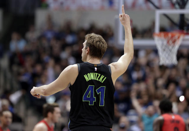 Mavericks forward Dirk Nowitzki, 39, is expected to be back next season. (AP)