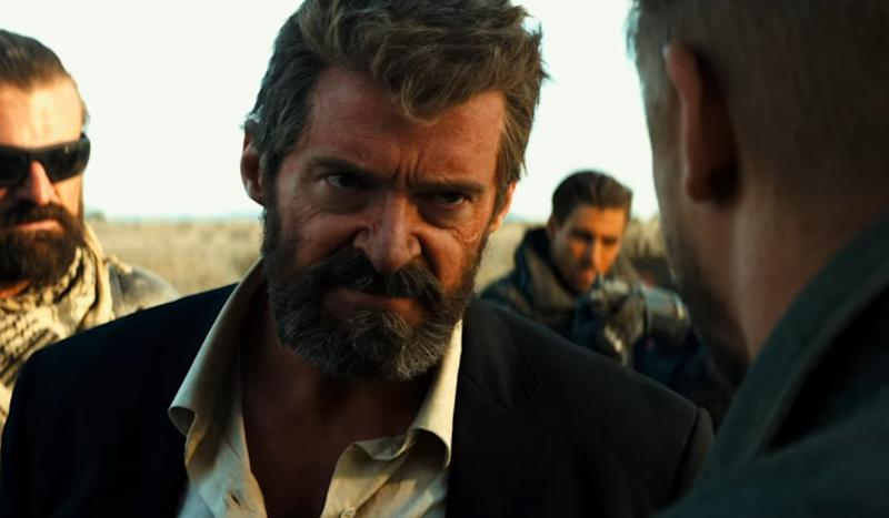 Hugh Jackman looking extremely miffed in the first trailer for 'Logan'. (Credit: 20th Century Fox)