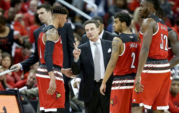 Rick Pitino and Louisville were slotted as a No. 2 seed in the selection committee's in-season show. (Getty)
