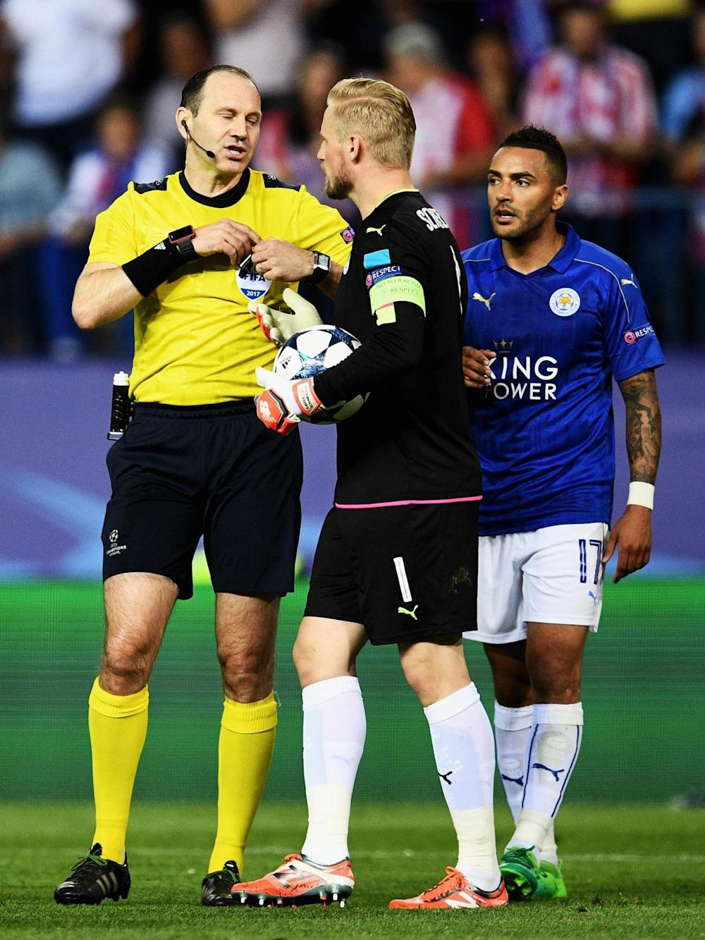 Schmeichel was furious with the decision (Getty)