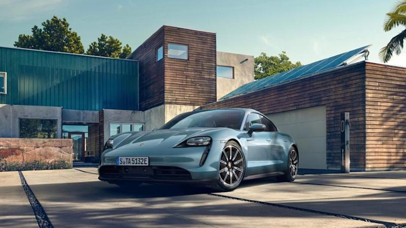 The electric Porsche Taycan Turbo has an EPA range of 201 miles
