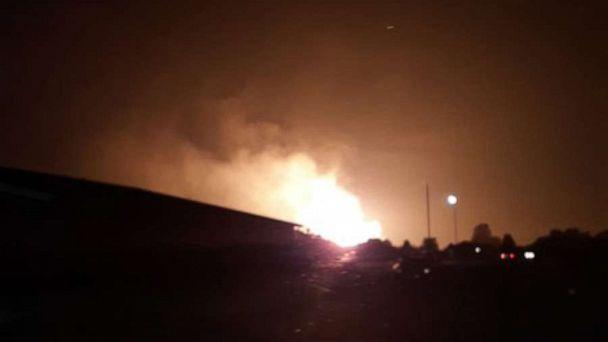 PHOTO: A massive explosion was reported in Lincoln County, Kentucky, early Thursday. (Austinping99 via Twitter)