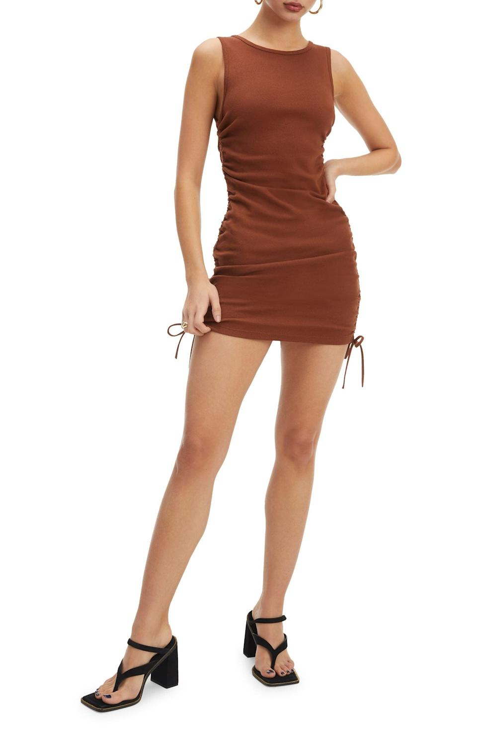 <p>This <span>Good American Ruched Dress</span> ($129) offers all-day comfort, while looking effortlessly stylish.</p>