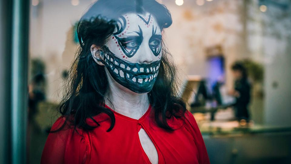 Alice Lowe gets in the Halloween spirit for Prevenge (credit: Kaleidoscope Entertainment)