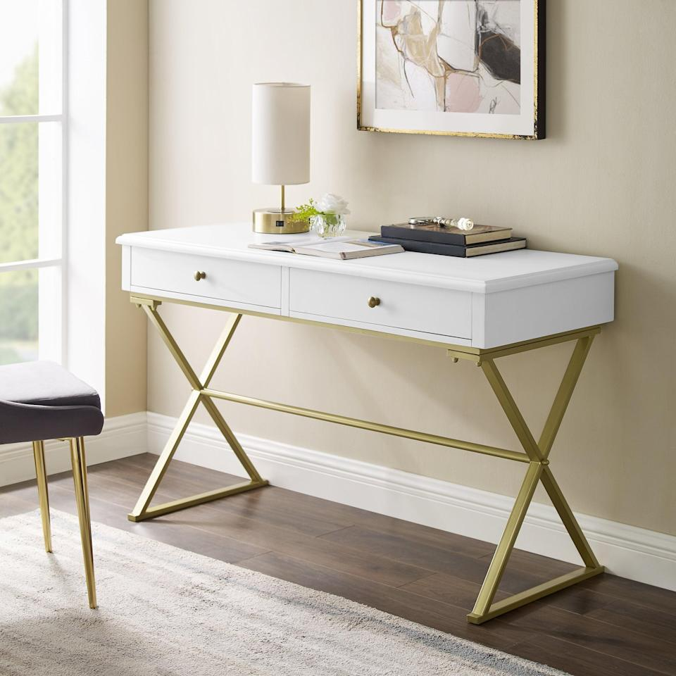 "<br><br><strong>Willa Arlo Interiors</strong> Colston Desk, $, available at <a href=""https://go.skimresources.com/?id=30283X879131&url=https%3A%2F%2Fwww.wayfair.com%2Ffurniture%2Fpdp%2Fwilla-arlo-interiors-colston-desk-wrlo8482.html"" rel=""nofollow noopener"" target=""_blank"" data-ylk=""slk:Wayfair"" class=""link rapid-noclick-resp"">Wayfair</a>"