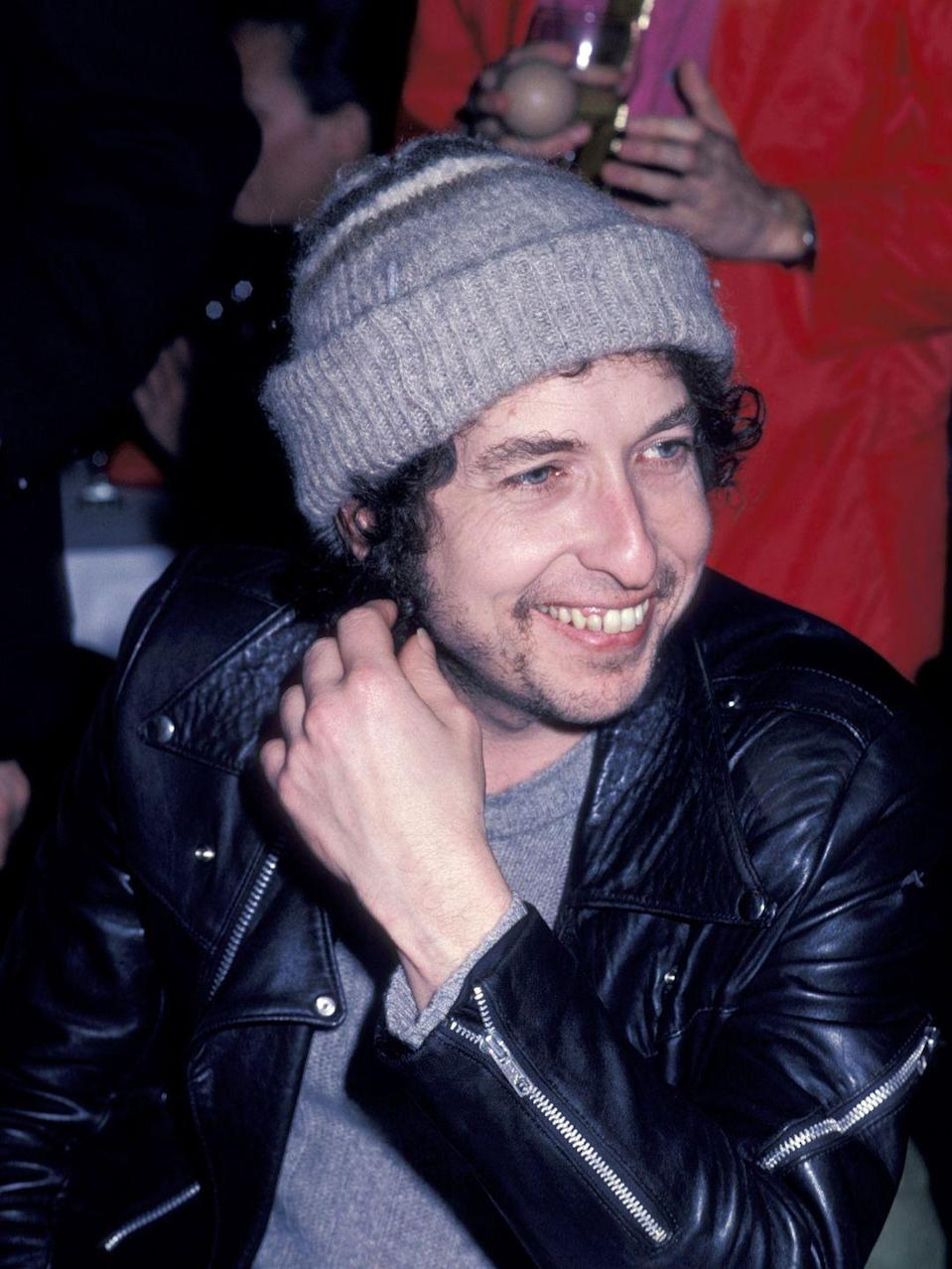 <p>Bob Dylan attends the Warner Bros. After Party for the 22nd Annual Grammy Awards on February 27, 1980.</p>