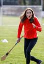 The duchess gives hurling a go... (Reuters)