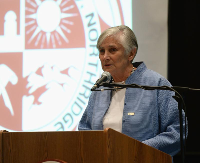 Former U.S. Assistant Secretary of Education Diane Ravitch speaks at California State University, Northridge, on Oct. 2, 2013, in Northridge, California.