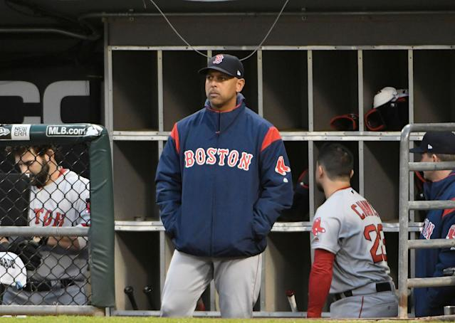 Boston Red Sox manager Alex Cora will not visit the White House on Thursday. (Photo by David Banks/Getty Images)