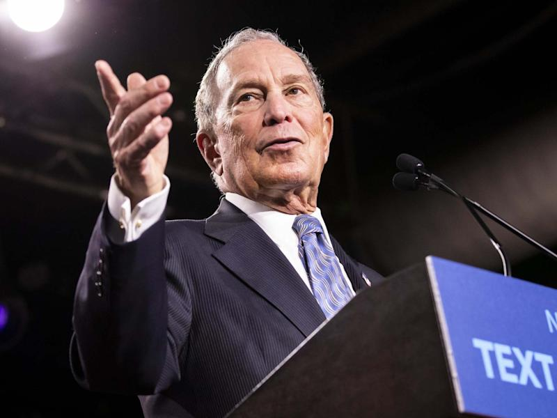 Mike Bloomberg at a campaign rally in Tennessee, 12 February: Getty Images
