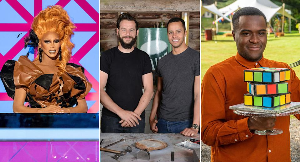 Ru Paul's Drag Race UK, The Repair Shop, Junior Bake Off should see you through lockdown. (BBC/C4)
