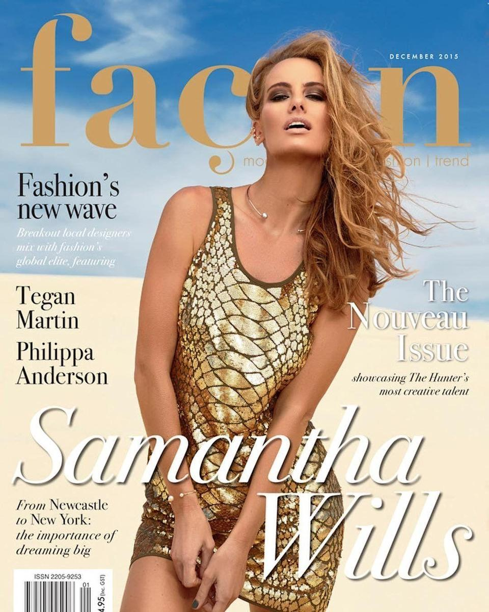 A lot was happening behind the scenes of Samantha Wills's magazine shoot for Façon.