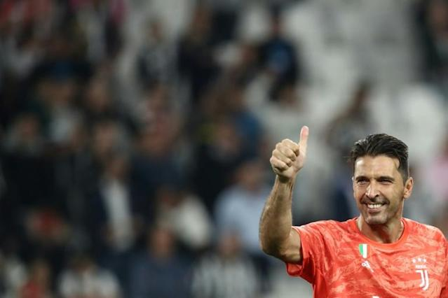 Goalkeeping legend Gianluigi Buffon returned for Juventus after a season in PSG (AFP Photo/Isabella BONOTTO)