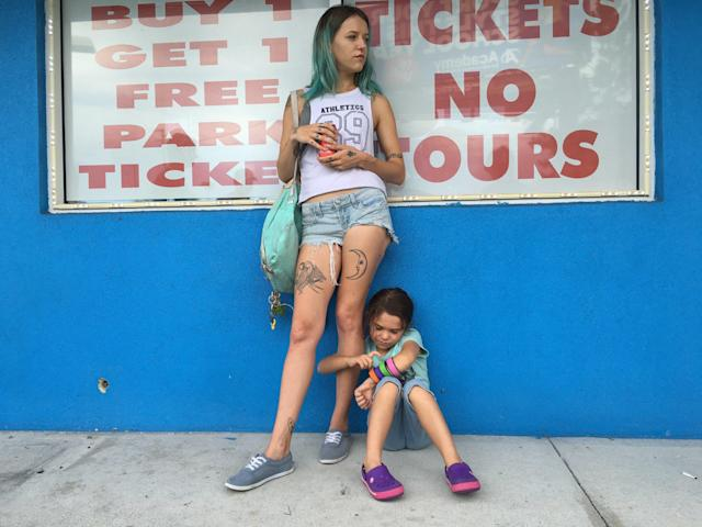 """Bria Vinaite and Brooklynn Prince star in """"The Florida Project."""" (A24)"""