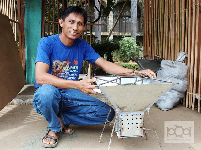 Palawan farmer invents low-cost rice hull stove