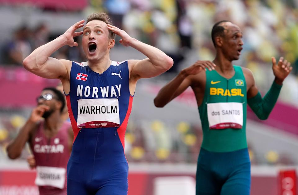 'This is sick': Warholm reacts to his astonishing time (AP)