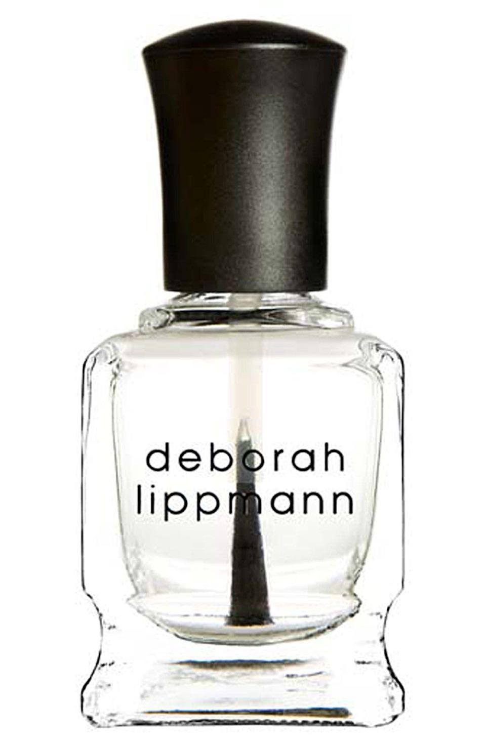 """<p><strong>Deborah Lippmann</strong></p><p>nordstrom.com</p><p><strong>$17.00</strong></p><p><a href=""""https://go.redirectingat.com?id=74968X1596630&url=https%3A%2F%2Fwww.nordstrom.com%2Fs%2Fdeborah-lippmann-hard-rock-hydrating-nail-hardener%2F2859991&sref=https%3A%2F%2Fwww.oprahdaily.com%2Fbeauty%2Fg36209337%2Fbest-nail-strengtheners%2F"""" rel=""""nofollow noopener"""" target=""""_blank"""" data-ylk=""""slk:Shop Now"""" class=""""link rapid-noclick-resp"""">Shop Now</a></p><p>This super versatile option (you can use it as a top or base coat or on bare nails) strengthens and protects with diamond powder and protein. """"This is the one I'd choose if my nails were weak coming out of several months of wearing gel manicures,"""" says Sunshine. </p>"""