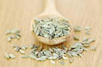 """<p>""""Fennel is a carminative, a substance that can disperse <strong>gas</strong> from the intestinal tract. You can find fennel seeds in the spice section of most supermarkets, and they're sold in Indian grocery stores as a <a href=""""https://www.prevention.com/health/a20472936/best-remedies-for-gas-and-bloating/"""" rel=""""nofollow noopener"""" target=""""_blank"""" data-ylk=""""slk:digestive aid"""" class=""""link rapid-noclick-resp"""">digestive aid</a>. Try chewing and swallowing half a teaspoonful of the seeds at the end of meals."""" </p><p><em>—Andrew Weil, M.D., Prevention advisory board member and founder and director of the Andrew Weil Center for Integrative Medicine</em></p>"""