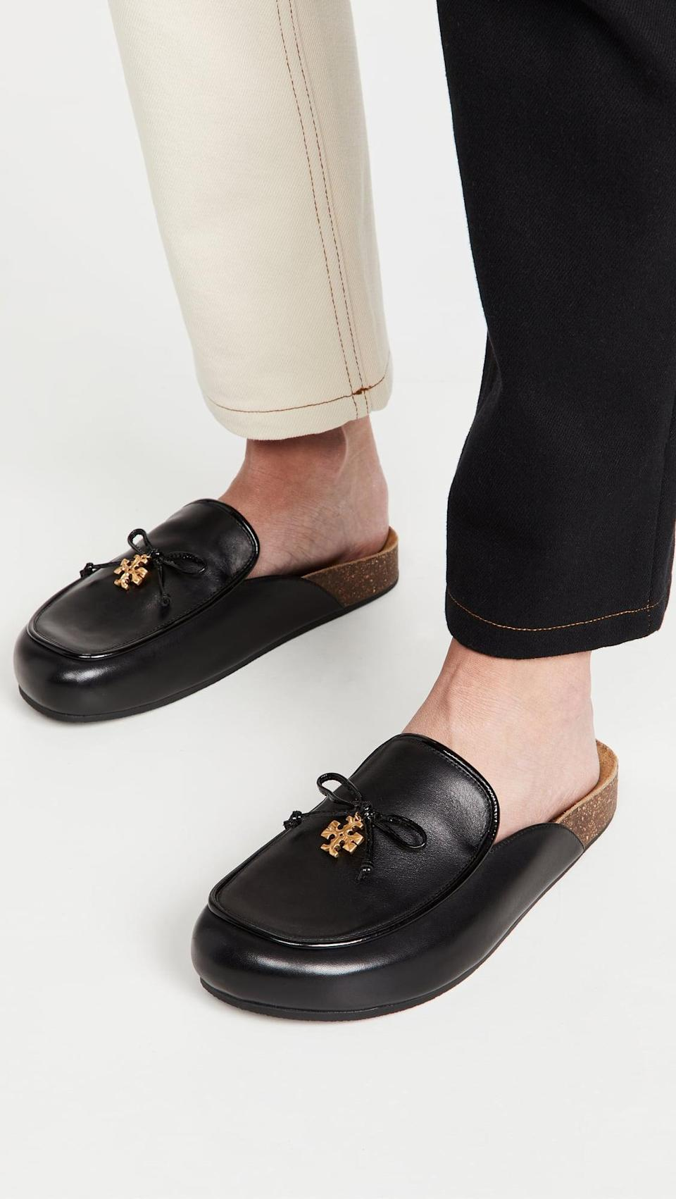 <p>The <span>Tory Burch Tory Charm Mules</span> ($278) are a great way to try the trend, with a more versatile look. The comfy shoes will match with jeans, trousers, and more.</p>