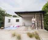 <p>UNIQUE:<br>Scaffold Board Summer House – owned by Scott Stickland in Thruxton, Hampshire (Picture: Shed of the Year) </p>