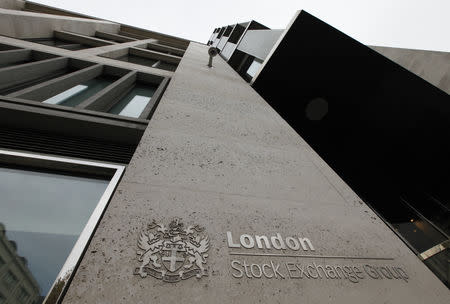 The London Stock Exchange building is seen in central London September 24, 2009. REUTERS/Stephen Hird/Files