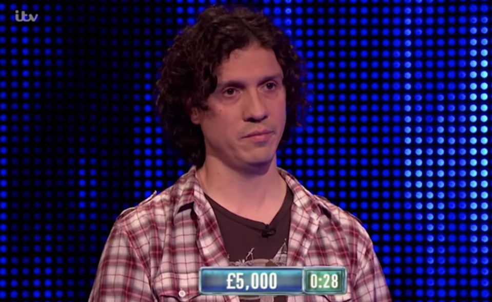 Darragh Ennis competed on 'The Chase' in 2017. (ITV)