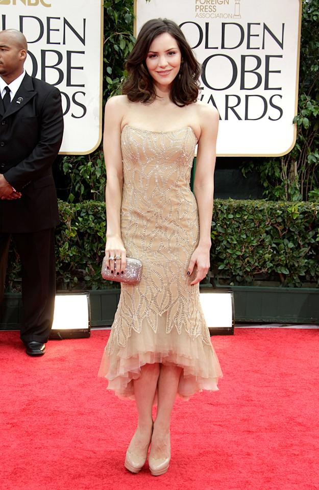 Katherine McPhee arrives at the 69th Annual Golden Globe Awards in Beverly Hills, California, on January 15.