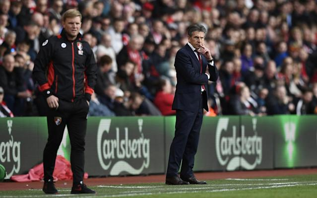 <p>Bournemouth manager Eddie Howe and Southampton manager Claude Puel </p>