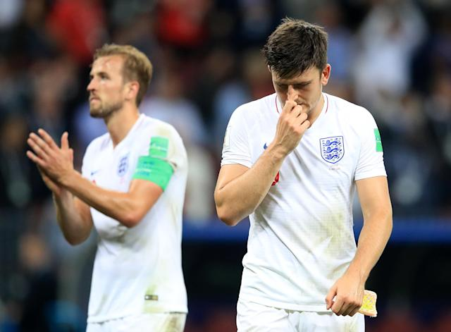 England players Harry Kane and Harry Maguire took to Twitter to share their pain