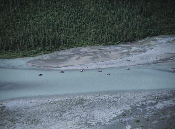 <p>A group of adventurers raft down the river at the Gates of the Arctic National Park in Alaska. // Circa 2006</p>
