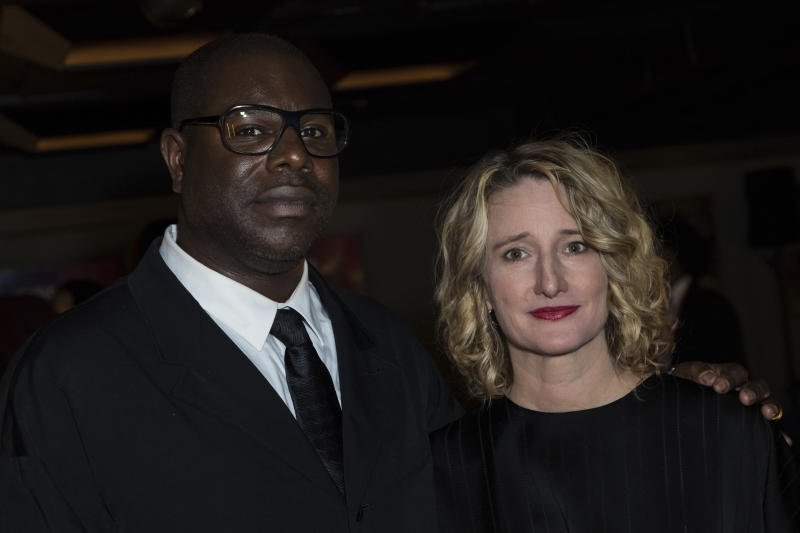 Festival Director Tricia Tuttle, right, and director Steve McQueen pose for photographers upon arrival at a party organized after the screening of the film 'Widows' showing as part of the opening gala of the BFI London Film Festival in London, Wednesday, Oct. 10, 2018. (Photo by Vianney Le Caer/Invision/AP)