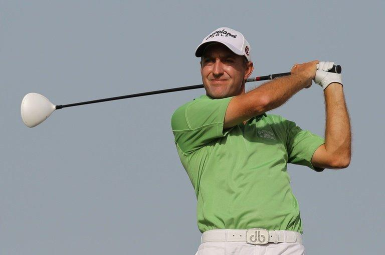 Darren Fichardt competes during the Qatar Masters in Doha on February 5, 2011