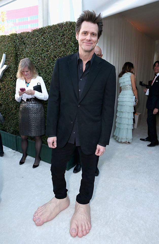 Jim Carrey attends Grey Goose at 21st Annual Elton John AIDS Foundation Academy Awards Viewing Party at Pacific Design Center on February 24, 2013 in West Hollywood, California.