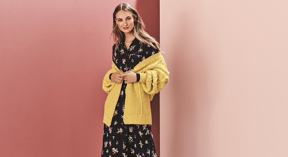 Marks and Spencer has a vast array of mid-length dresses that are a wardrobe staple all year long.  (M&S)