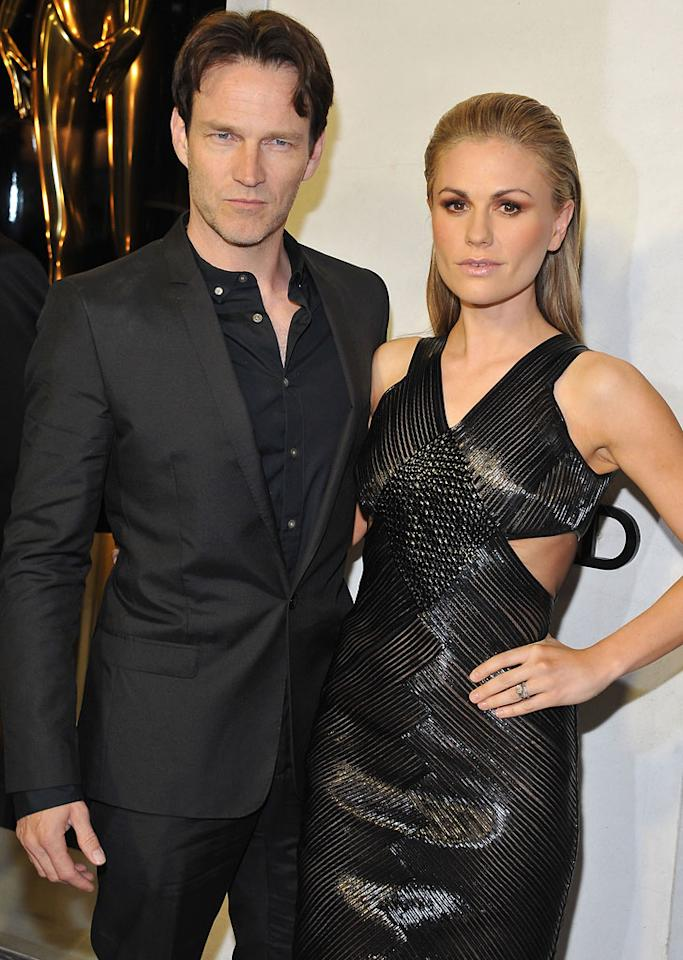 Anna Paquin and actor Stephen Moyer attend Tom Ford's cocktail event in support of Project Angel Food at TOM FORD on February 21, 2013 in Beverly Hills, California.