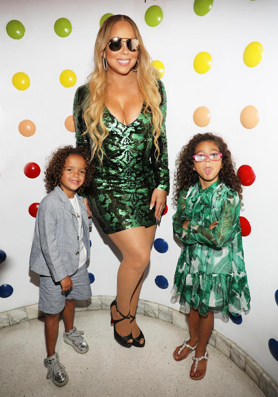 """<p>In 2011, the singer became a mother for the first time, welcoming twins Moroccan and Monroe, at age 42. Carey and her former husband, Nick Cannon, were private about their road to becoming parents, only telling <a href=""""http://people.com/babies/nick-cannon-mariah-carey-twins-born/"""" rel=""""nofollow noopener"""" target=""""_blank"""" data-ylk=""""slk:People"""" class=""""link rapid-noclick-resp""""><em>People</em></a> it was a """"long journey."""" (Photo: Alexander Tamargo/Getty Images) </p>"""
