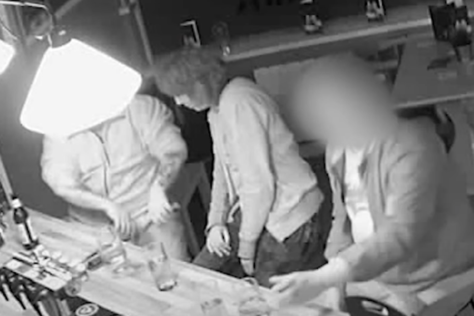 CCTV footage of Julia Rawson (middle) at a pub in Dudley with a man with tattoos on his arms (left) proved to be crucial to the investigation. Source: West Midlands Police