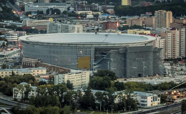 <p>Ekaterinburg Arena, Yekaterinburg<br>Year opened: 1957 (Renovated in 2014)<br>Capacity: 35,000<br>Which games: Four group games<br>Fun fact: The most easterly World Cup stadium. Also features a 'distinctive' temporary stand behind one goal which is outside the main stadium building. </p>