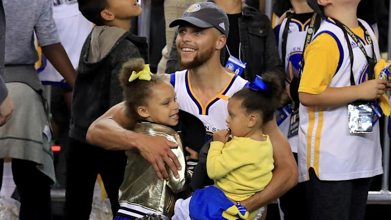 Steph Curry's most adorable dad moments with kids Riley, Ryan, Canon