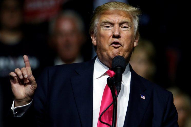 Donald Trump speaks during a campaign rally in Jackson, Miss. (Photo: Carlo Allegri/Reuters)