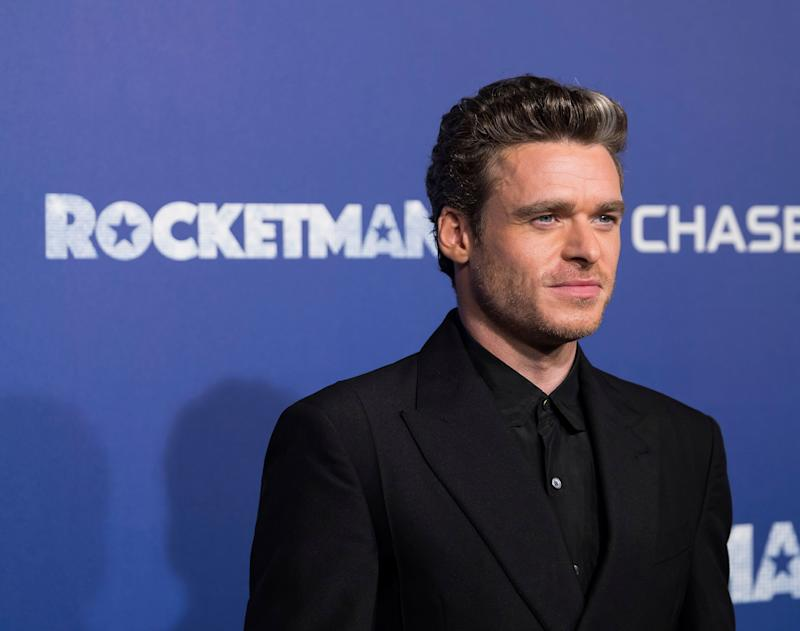 "Richard Madden attends the premiere of ""Rocketman"" at Alice Tully Hall on Wednesday, May 29, 2019, in New York. (Photo by Charles Sykes/Invision/AP)"