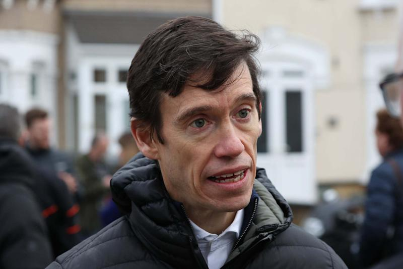 Former Tory MP Rory Stewart speaks in Seven Kings, where three people died after being stabbed: PA