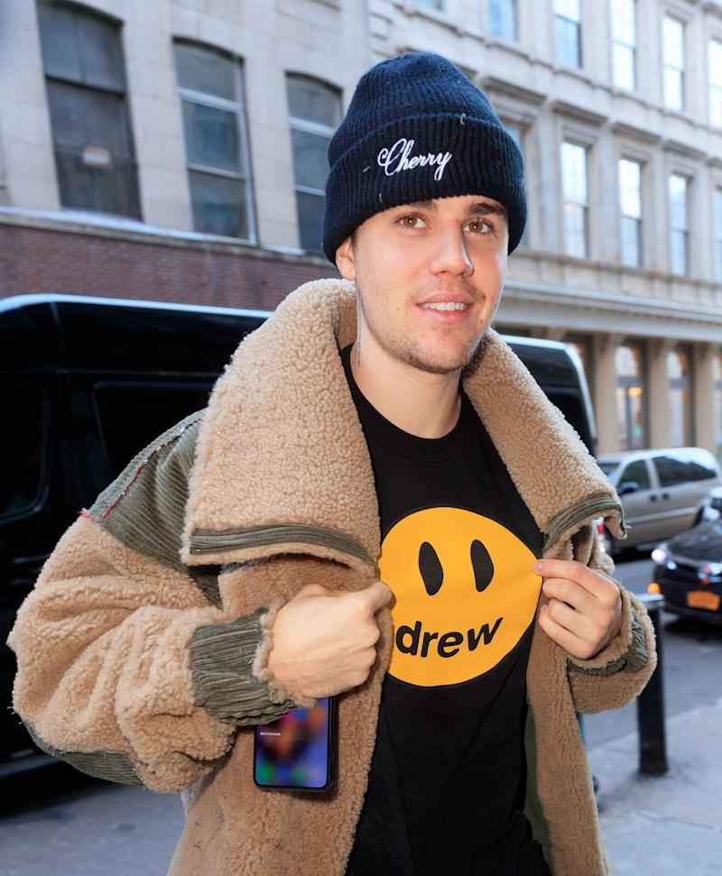Justin Bieber takes to the streets in casual outfit and is captured on camera looking dashing