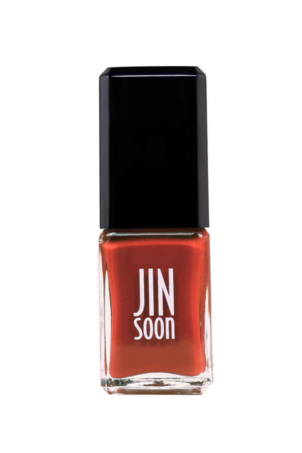 """<p><strong>JINsoon Nail Polish in Idyll</strong></p><p>barneys.com</p><p><strong>$18.00</strong></p><p><a href=""""https://www.barneys.com/product/jinsoon-nail-polish-505428136.html?gclid=EAIaIQobChMIpJ_DsKe15AIVCJyzCh1F4QnREAYYAiABEgLIJ_D_BwE&gclsrc=aw.ds"""" rel=""""nofollow noopener"""" target=""""_blank"""" data-ylk=""""slk:SHOP IT"""" class=""""link rapid-noclick-resp"""">SHOP IT</a></p><p>Swap out your bright reds for this brick-toned shade with hints of brown and orange that make this warm hue feel extra special. </p>"""