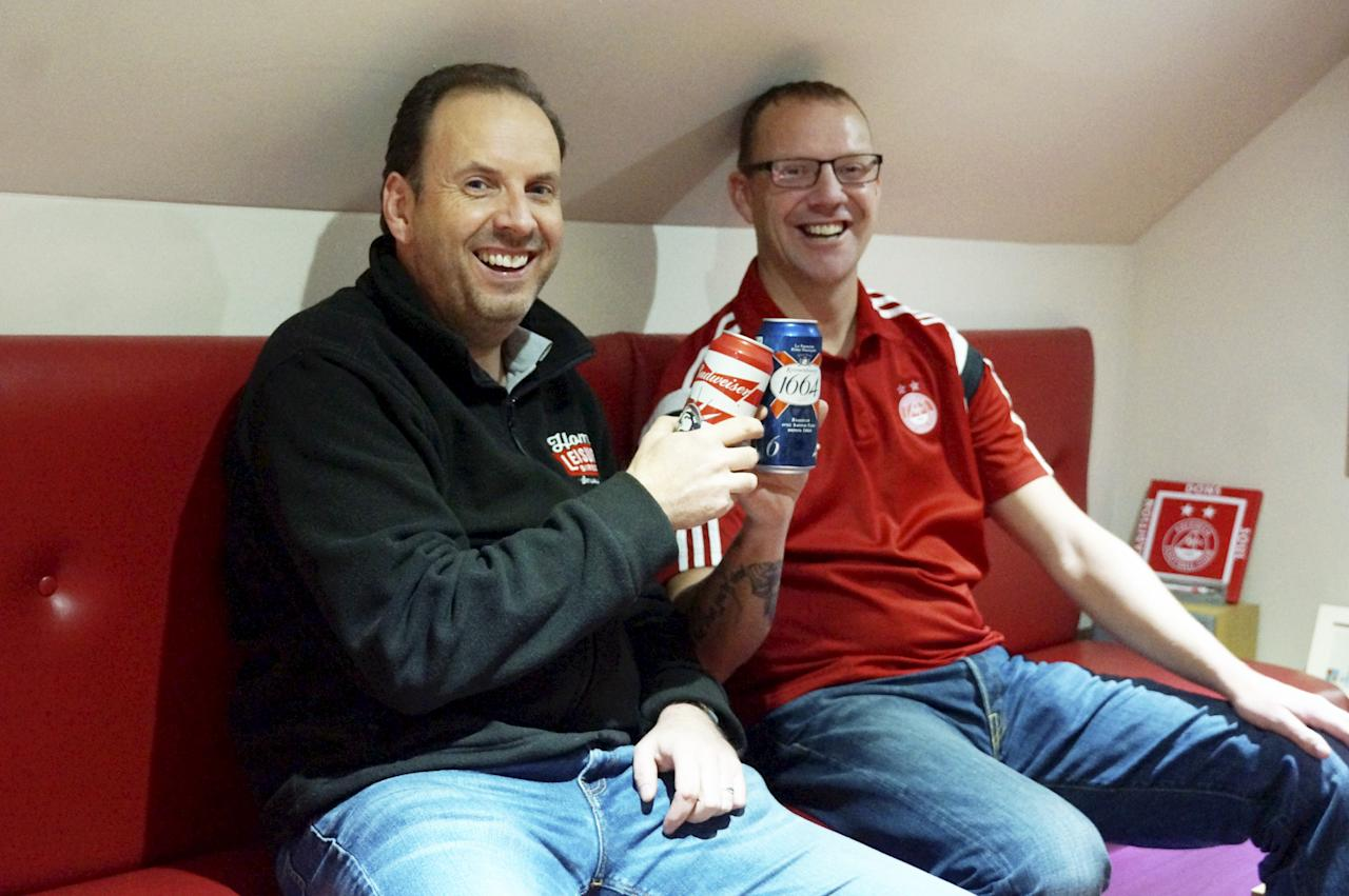 """<p>The Games Room competition was run by Home Leisure Direct. Its managing director, Andy Beresford, here with Graham, said: """"It's a brilliant setup and the finishing touches are excellent."""" </p>"""