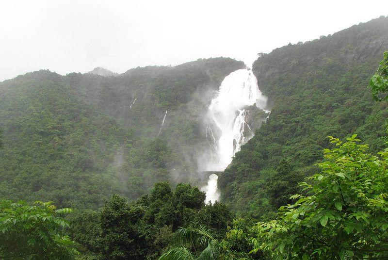 """A memory to leave you with -- the Dudhsagar Falls in all its spectacular glory. <br><br><b>ABOUT THE PHOTOGRAPHERS:</b><br><br><b>Harish Kumar</b>, a software professional from Chennai, is an avid traveler, rail enthusiast, motorcycle tourer and amateur photographer. <br><br><b>Ben Hur</b>  is a market research professional from Hyderabad with avid interests in  travel and street photography. He hails from Kanyakumari, Tamil Nadu.<br><br><b>Raghu Jayaraman</b> from Chennai is a market research professional who is passionate about traveling, quizzing and photography. <br><br>If you love trains and want to learn more about railfanning, visit the <a target=""""_blank"""" href=""""https://ec.yimg.com/ec?url=http%3a%2f%2fwww.irfca.org%2f%26quot%3b%26gt%3bIndian&t=1506424771&sig=CjnZQhmhcwgUhXPFsfD1RA--~D Railway Fan Club</a>"""
