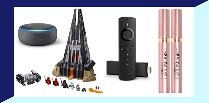 On Black Friday and Cyber Monday 2019, Amazon customers bought a lot— and top sellers included a Lego set and L'Oréal mascara. (Photo: Amazon)