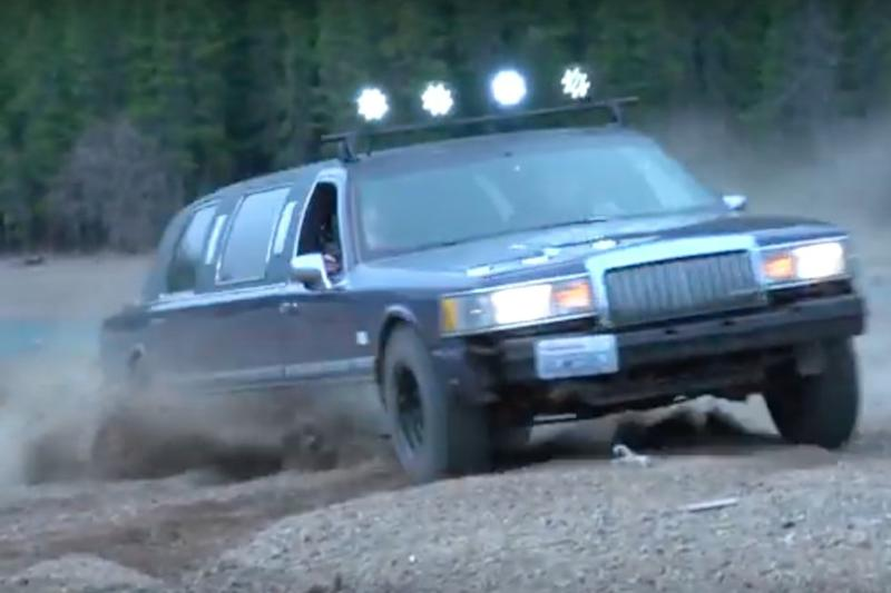 Watch this Lincoln Town Car drive where no limo was meant to go