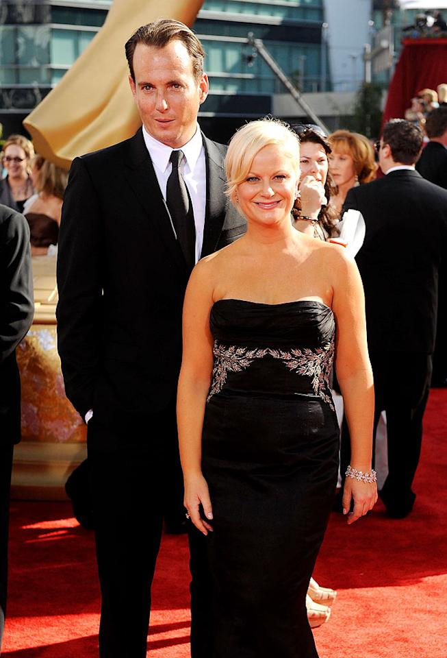 "Will Arnett (""Sit Down Shut Up"") and Amy Poehler (""Parks and Recreation"") arrive at the 61st Primetime Emmy Awards held at the Nokia Theatre on September 20, 2009, in Los Angeles."