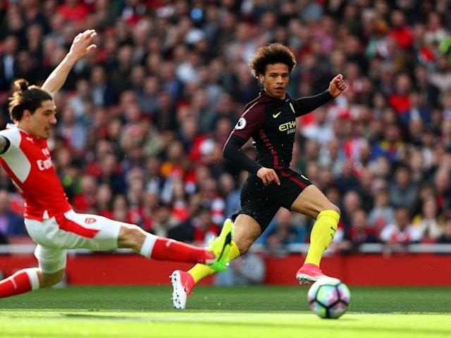 Sane notched the opener for Manchester City (Getty)